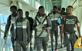 Ashantigold SC arrives in Morocco for RS Berkane game