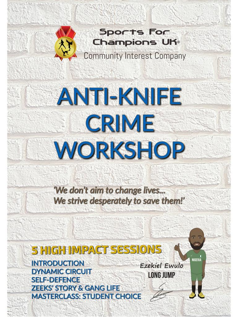 Anti knife crime workshop