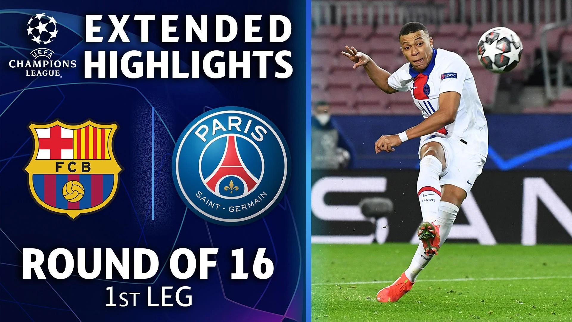 barcelona vs paris saint germain extended highlights cbssports com