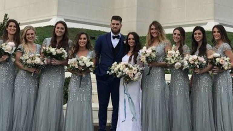 LOOK: Bryce Harper got married to his longtime girlfriend over the weekend - CBSSports.com