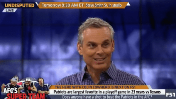 Colin Cowherd on Patriots vs. AFC: 'It's over' - CBSSports.com