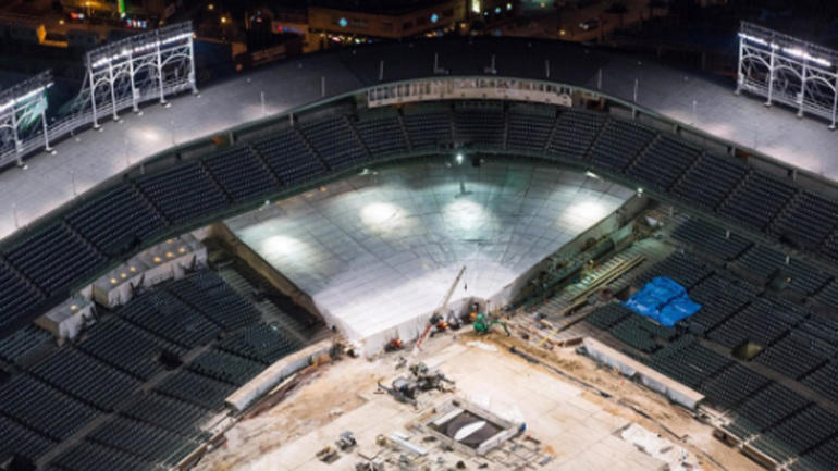 LOOK: Wrigley Field renovations still ongoing with start of season getting closer - CBSSports.com