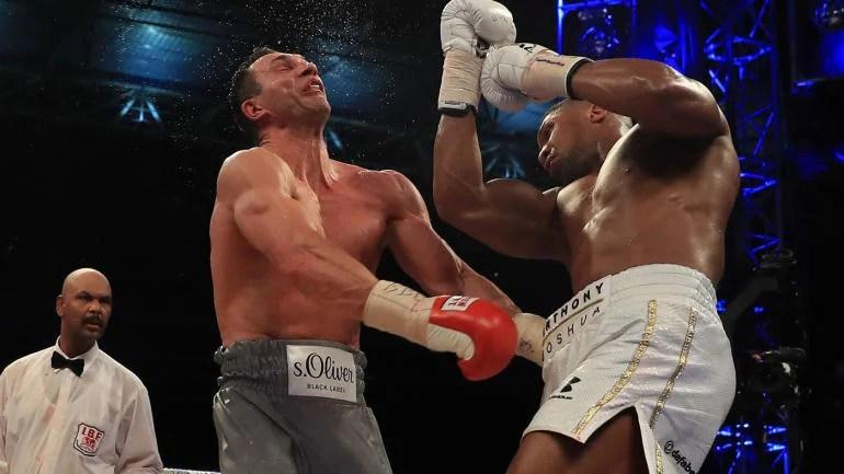 WATCH: Anthony Joshua's uppercut nearly takes off Wladimir ...