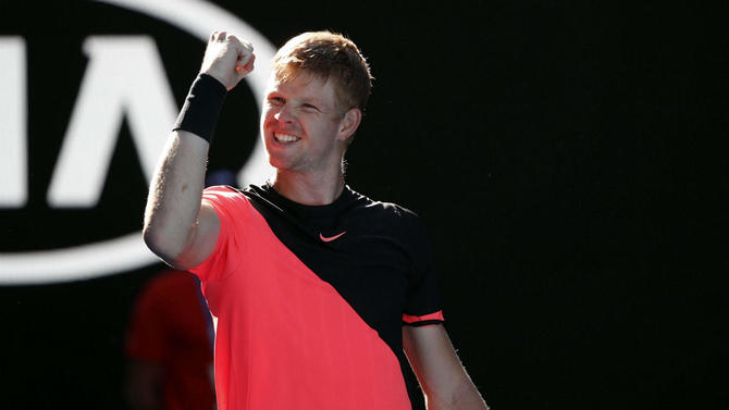Edmund after defeating Grigor Dimitrov