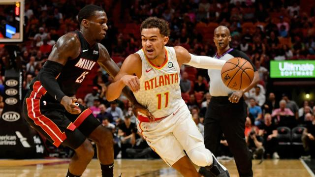 Trae Young tells Miami crowd 'it's over,' Heat promptly outscore the Hawks  24-4 after that to win in overtime - CBSSports.com