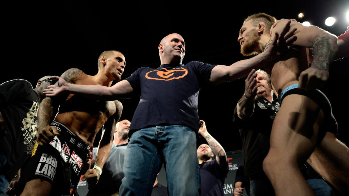Conor McGregor vs. Dustin Poirier. Bets for press conference include if someone will be arrested