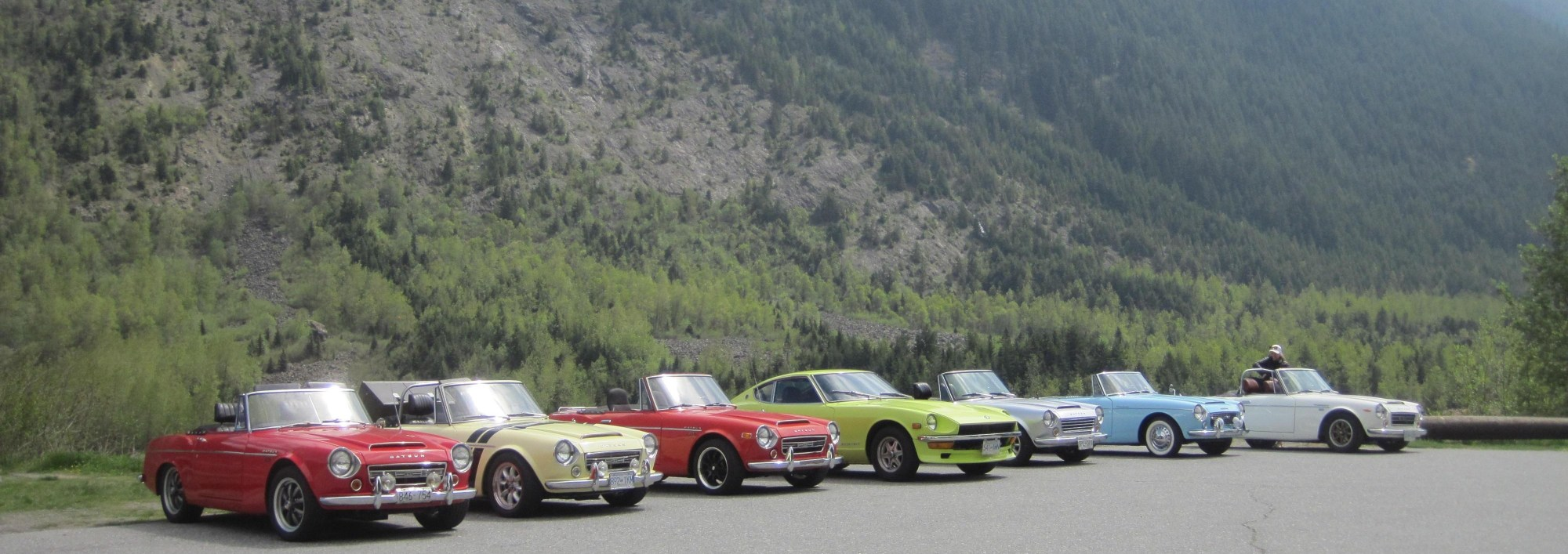 Datsun Roadsters and a 240Z 240