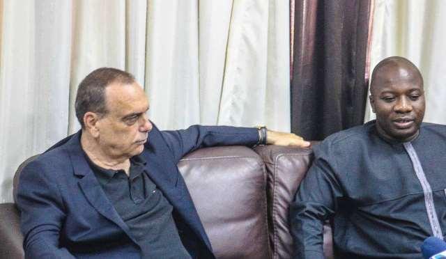 Avram Grant meets Hon Ayariga