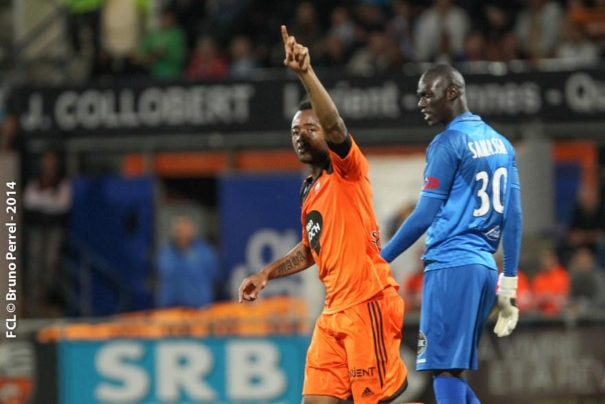Jordan celebrates winner for Lorient
