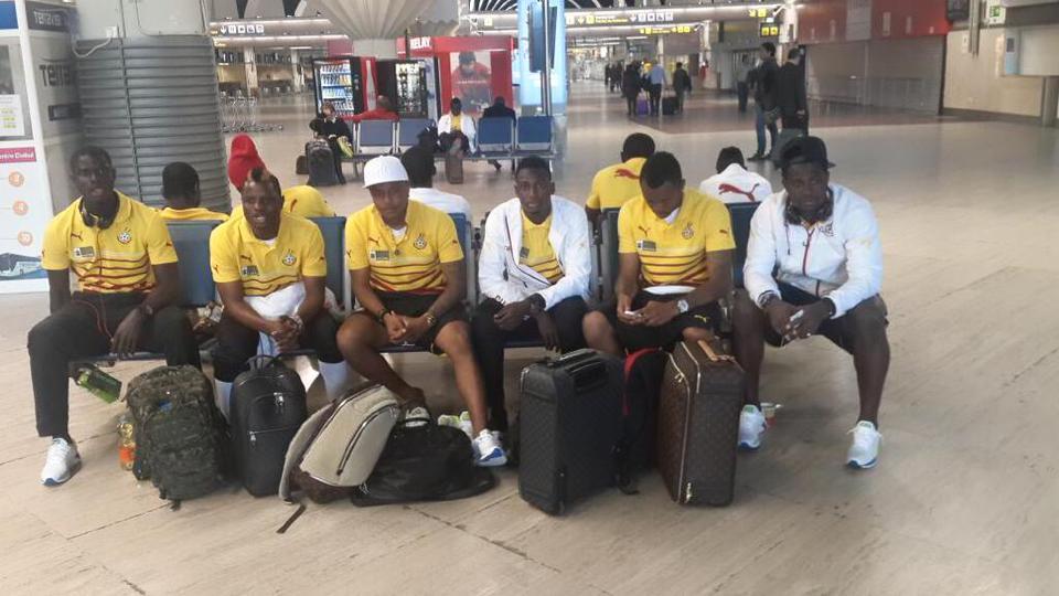 Black Stars at airport in Spain