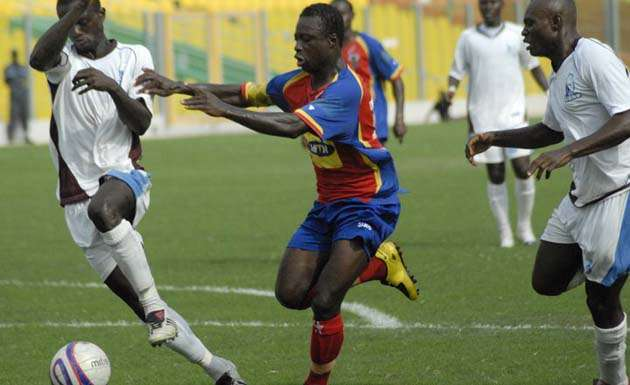 Charles Taylor in action for Hearts of Oak during his most glorious football days