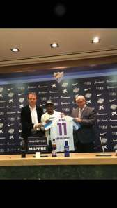 Atsu will wear jersey number 1 at Malaga