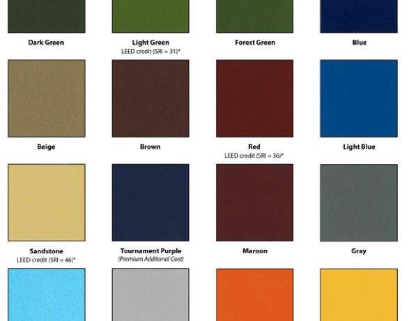 Tennis Court Color Options