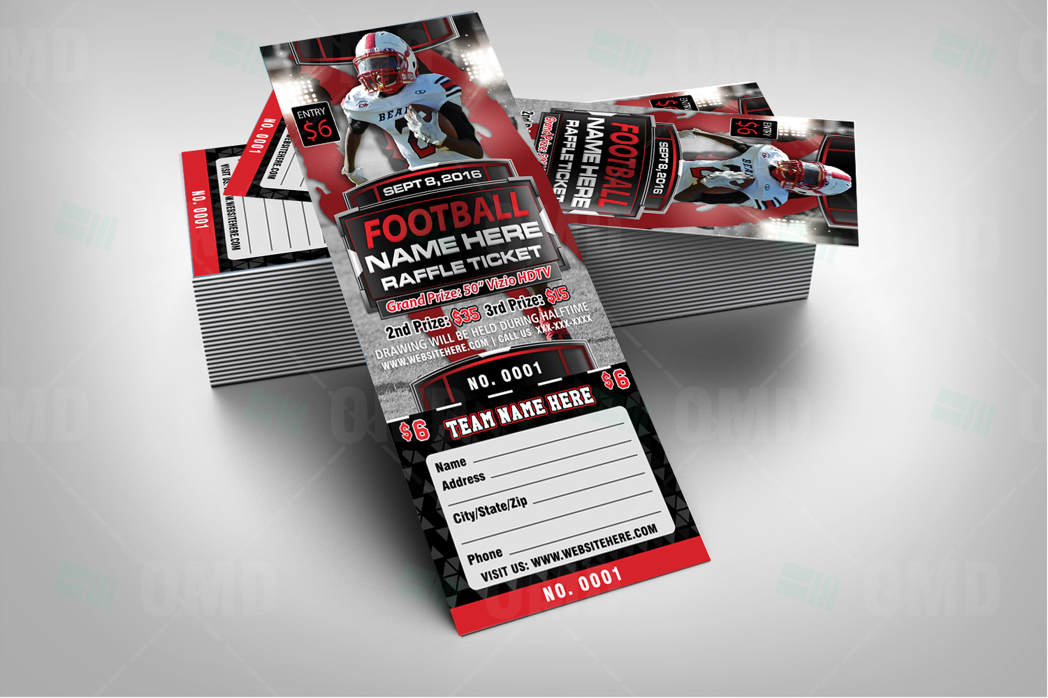 Halftime Football Raffle Ticket Template Sports Invites