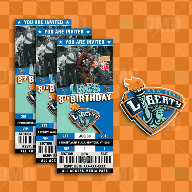 New York Liberty Sports Ticket Style