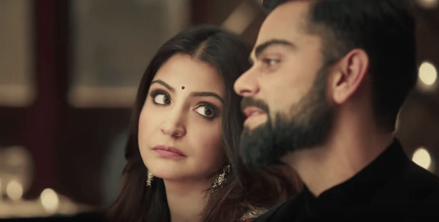 Virat Anushka Manyavar clothing wedding ad mohey 1