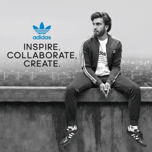 Ranveer Singh Adidas Brand Ambassador endorsement sponsor Ranveer Singh