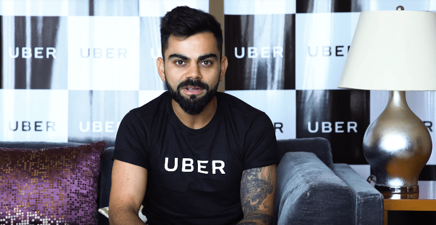 Virat Kohli Brand Ambassador Endorsements Advertising TVCs product promotions brand value list  Uber India