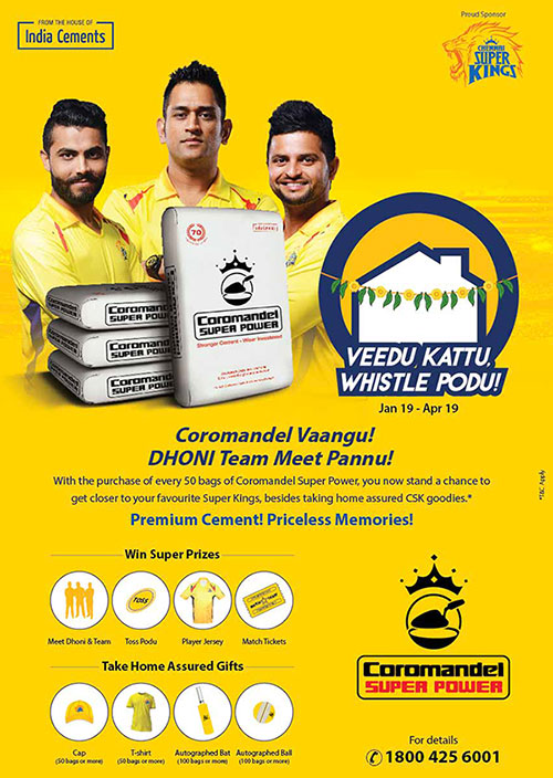 Chennai Super Kings Partners Sponsors Brands Companys Logos Jersey TVc Advert  India Cements
