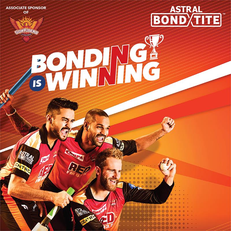 Sunrisers Hyderabad SRH Sponsors Logos Jerseys Brand Endorsements Partners Sponsorship Astral Adhesives