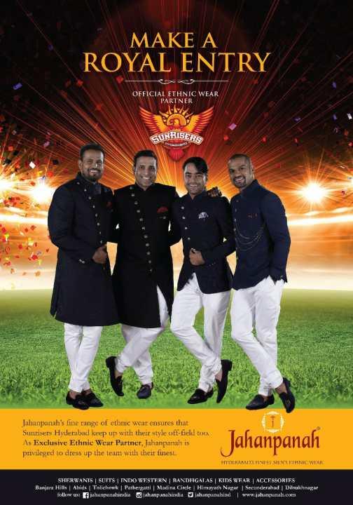 Sunrisers Hyderabad SRH Sponsors Logos Jerseys Brand Endorsements Partners Sponsorship Jahanpanah