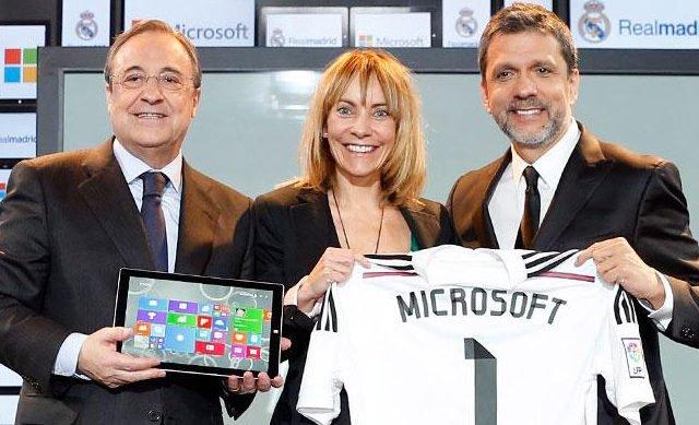 Real Madrid CF Offical Sponsorships Partners Brand Tie Ups Advertising Marketing Microsoft