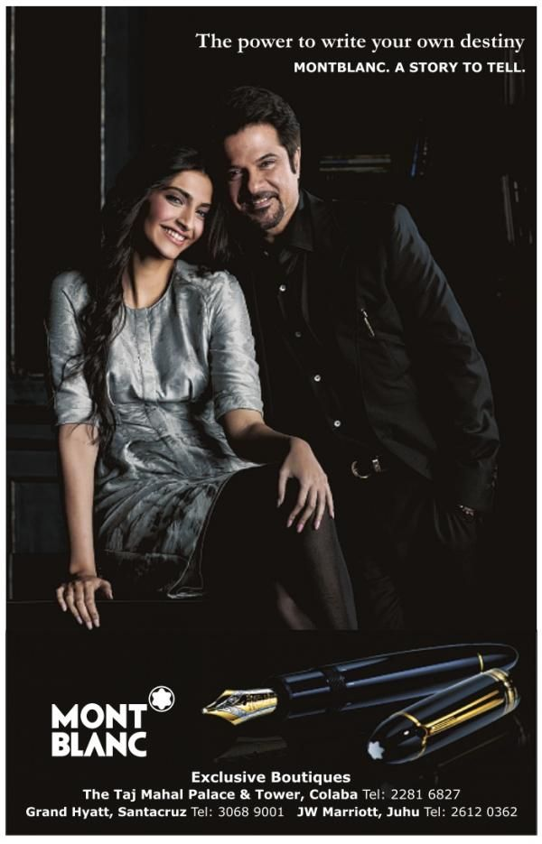 Sonam Kapoor Brand Endorsements Brand Ambassador Advertisements TVCs List Mont Blanc pen stationary