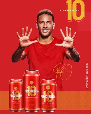 Neymar Jr. Brand Endorsement Deals Promotions Ambassador TVC Advertising Sponsorship Partnership Proibida