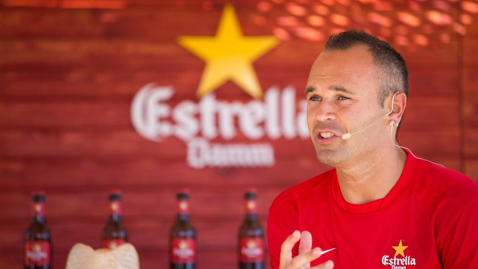 Andres Iniesta Brand Endorsements Brand Ambassador Sponsorship Partners Advertising TVC Spain Barcelona  Estrella Damm