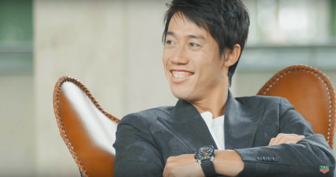Wrist Watch Brands Endorsed Promoted advertised by tennis stars players Kei Nishikori Tag Heuer