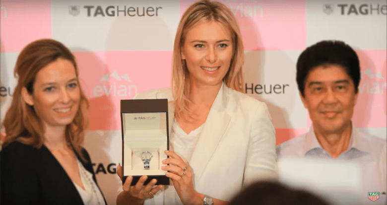 Wrist Watch Brands Endorsed Promoted advertised by tennis stars players Maria Sharapova - TAG Heuer