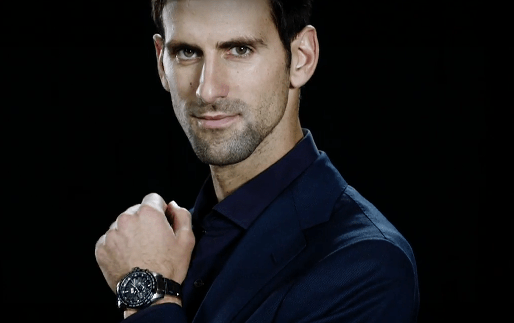Wrist Watch Brands Endorsed Promoted advertised by tennis stars players Novak Djokovic - Seiko Astron