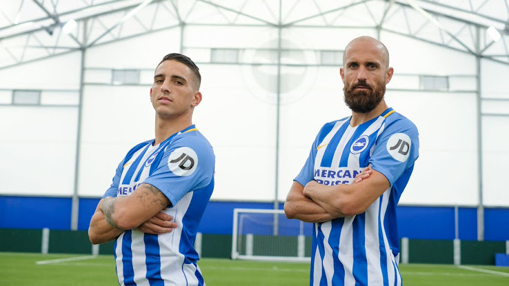 Brighton and Hove Albion JD Shirt Sleeve Sponsor Logo Brand Premier League Football Clubs