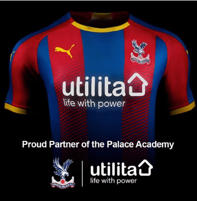 Crystal Palace Sponsors Partners Brand Associations Advertisements Logos Partnerships Investors Utilita
