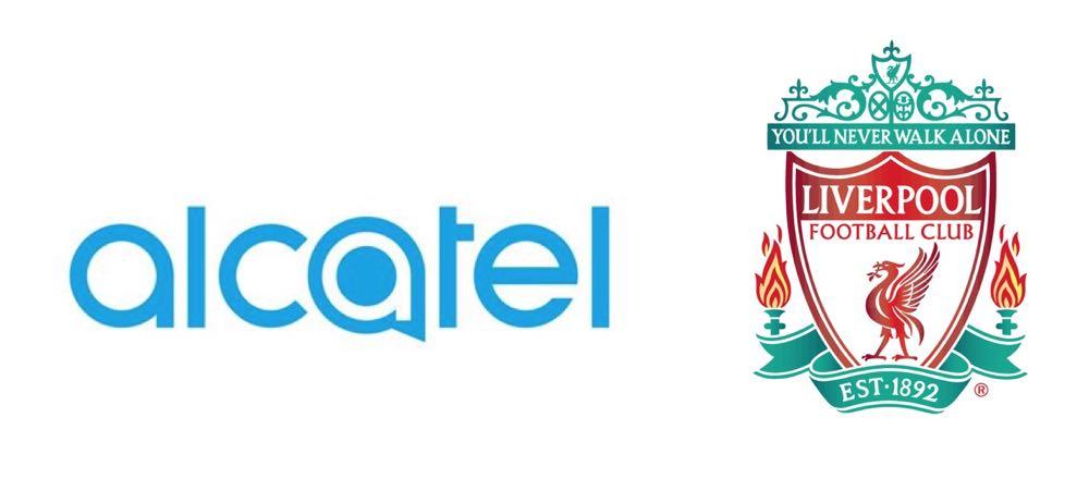 Liverpool Sponsors Partners brand associations advertisements logos ads Alcatel