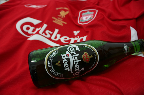 Liverpool Sponsors Partners brand associations advertisements logos ads Carlsberg