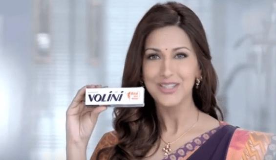 Sonali Bendre Brand Endorsements Ads Advertisements TVCs advertising commercials Ranbaxy Volini