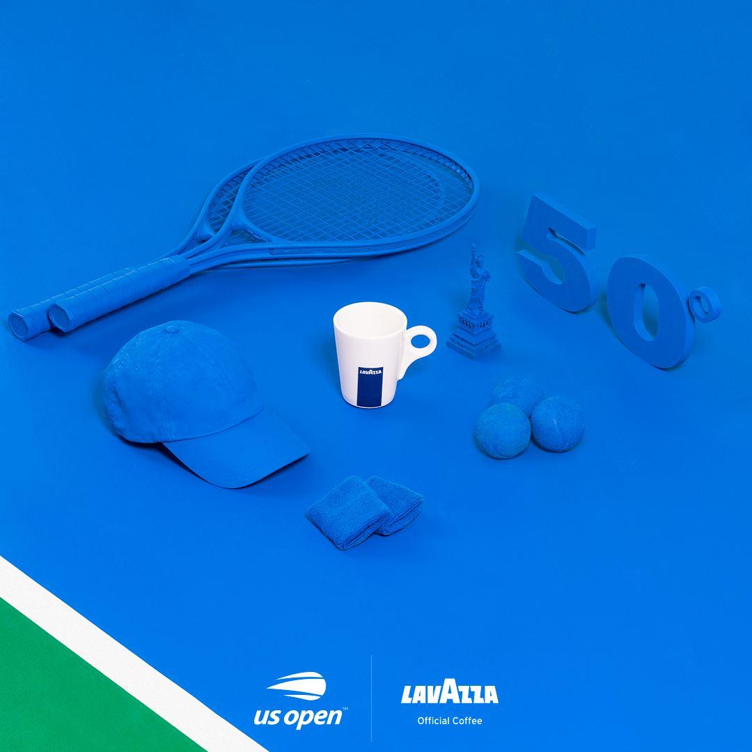 US Open Tennis Grand Slam Sponsors Partners Advertisements Logos Suppliers Lavazza Coffee