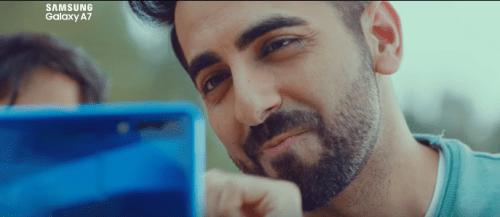 Ayushmann Khurrana brand endorsements brand ambassador list ads tvcs advertisements advertising actor model Samsung Galaxy Mobile Phone