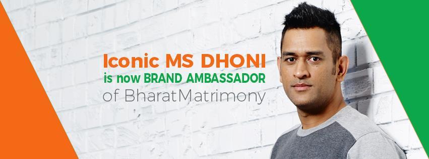MS Dhoni Brand Ambassador Sponsors Endorsements List Advertising Commercials TVCs Associations Brand Value Bharat Matrimony