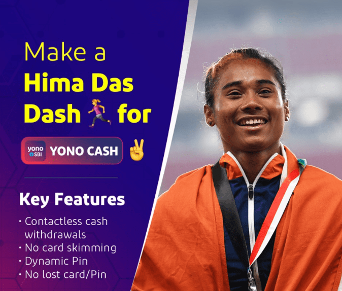 Hima Das Sponsors Brand Ambassador Advertising TVCs Ads Social Media promotions Brand Associations Tie-ups endorsements SBI Dhing Express