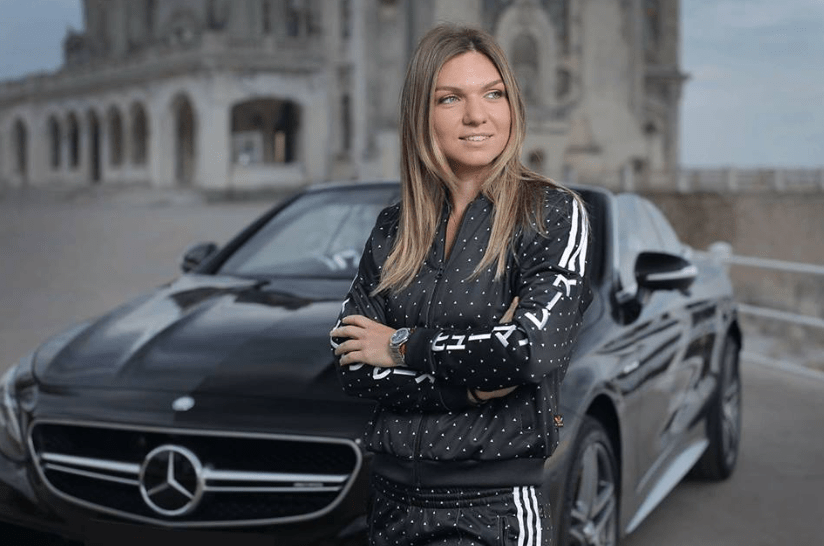 Luxury cars endorsed advertised promoted driven by tennis male female players sports sponsors list Simona Halep