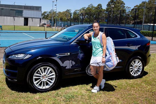 Luxury cars endorsed advertised promoted driven by tennis male female players sports sponsors list Ash Barty