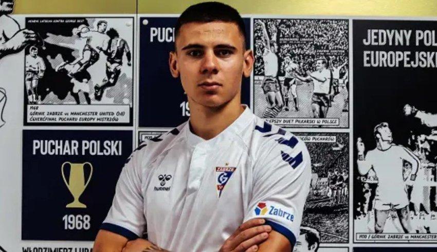 Давид Тошевски дебитираше со гол за Горњик Забрже, па беше заменет од Подолски