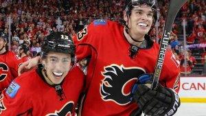 Johnny Gaudreau (izquierda) y Sean Mohanan (derecha) el futuro de los Flames