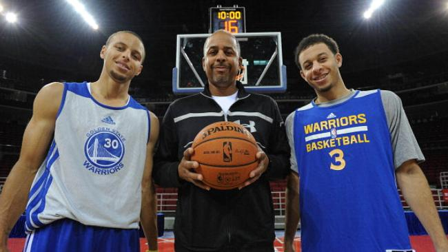 Seth, Dell y Stephen Curry