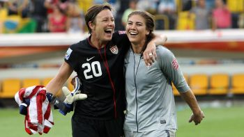 Abby Wambach y Hope Solo