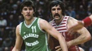 Sabonis (Žalgiris) Y Tkachenko (CSKA), pareja interior de la URSS.