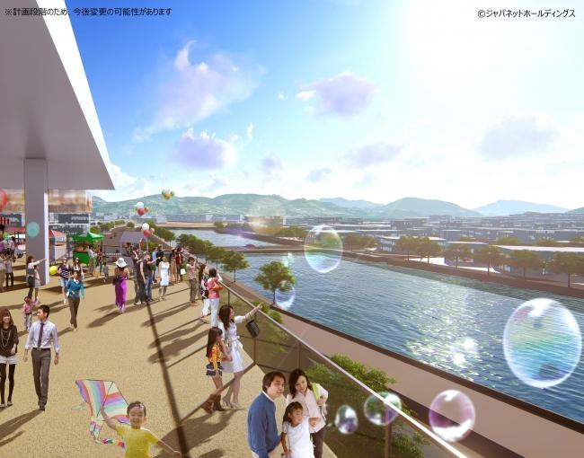 浦上川の景色