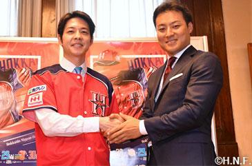 田中賢介選手が鈴木直道北海道知事を表敬訪問 「北海道みんなの日」観戦チケットプレゼント企画も発表